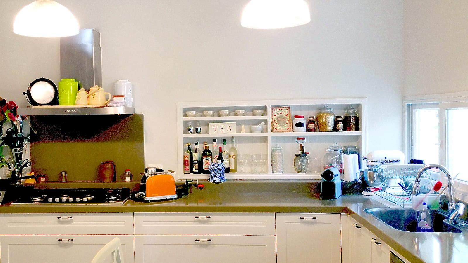 המטבח בבבית למכירה בקדימה בכפר על חצי דונם. בתים למכירה בקדימה